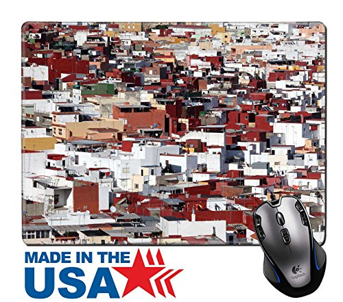 """MSD Natural Rubber Mouse Pad/Mat with Stitched Edges 9.8"""" x 7.9"""" City of Algeciras Andalusia Spain IMAGE 19278139"""