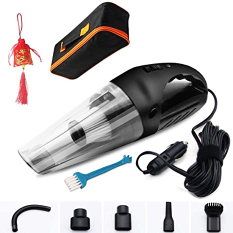 Black Portable Handheld Car Vacuum Cleaner with Strong Suction; DC 12-Volt 120W High Power//Wet /& Dry Use; with 15ft Power Cord LOVIN PRODUCT Car Vacuum 2 Filters /& Carry Bag