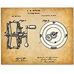 Fishing Reel 11x14 Unframed Patent Print Great Gift for Fishermen Lake House or Cabin