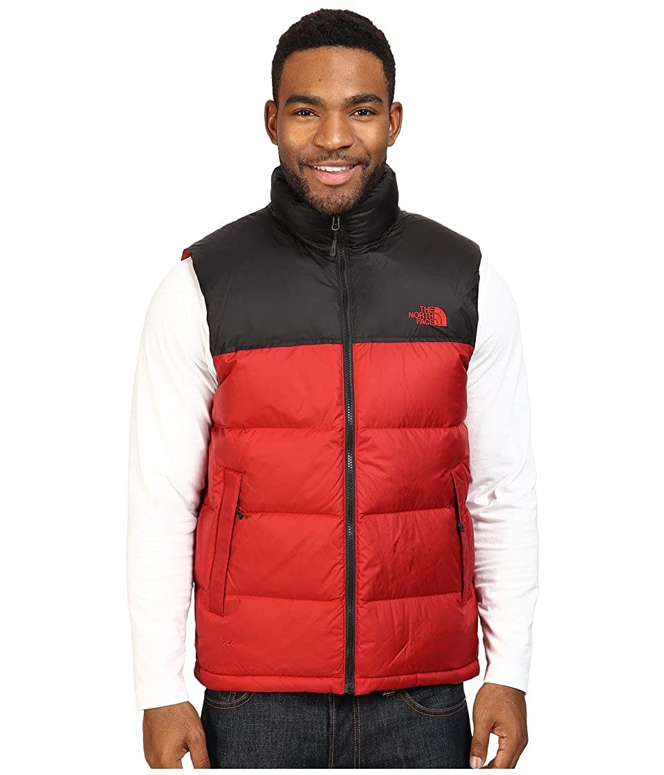 37afcf9f1c The North Face mens NUPTSE VEST C760MHB M - CARDINAL RED TNF BLACK   Amazon.ca  Sports   Outdoors