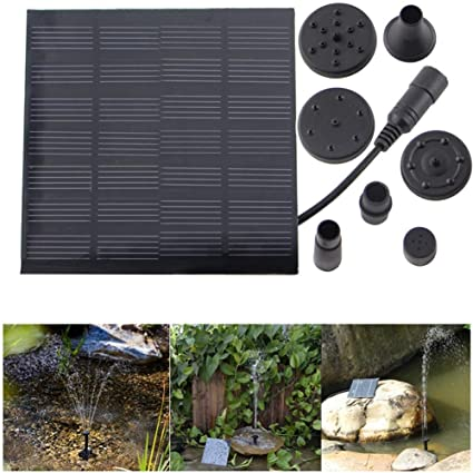 MJLXY 7V Bomba de Agua Solar, Equipo de Paneles de Bomba de Agua de Energía