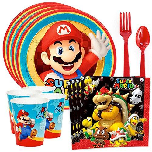 Costume SuperCenter Super Mario Party Standard Tableware Kit (Serves 8)