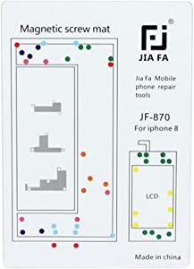 HONGYU Smartphone Spare Parts Magnetic Screws Mat for iPhone 8 Repair Parts