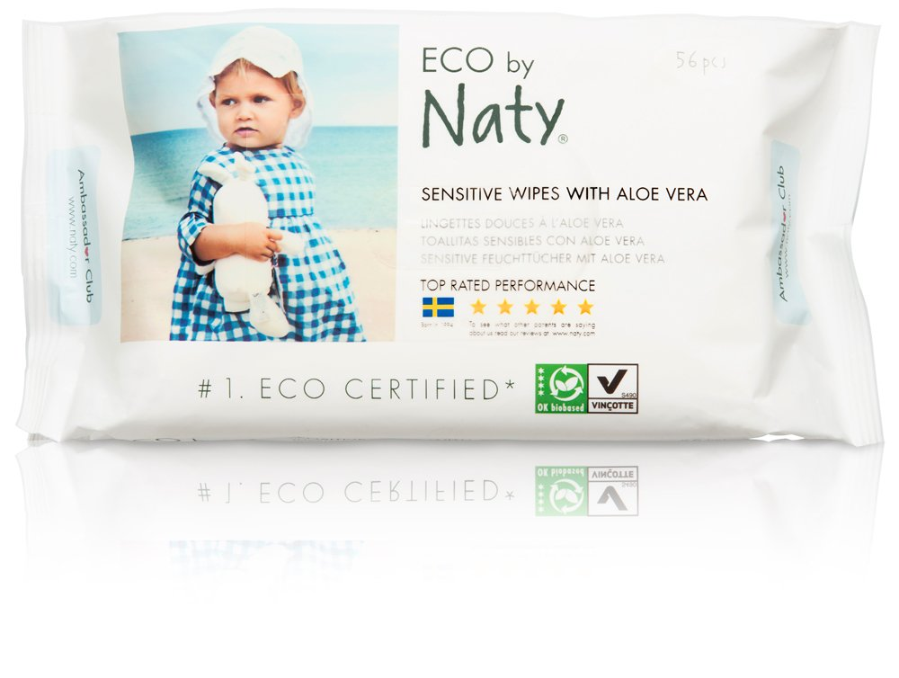 Naty By Nature Babycare - Sensitive Wipes - Toallitas húmedas con Aloe Vera - 12 x 56 toallitas: Amazon.es: Salud y cuidado personal