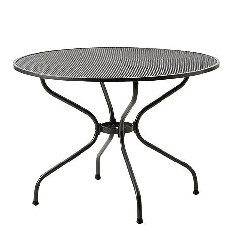 Gartentisch rund metall  Amazon.de: Gartentisch rund metall MWH Tisch Ø105cm Streckmetall ...
