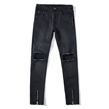 c794fa897 George Gouge Holes Skinny Casual Jeans Men Feet Ripped Jeans Man Joggers  Trousers Casual Calca Jeans