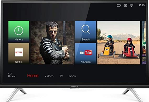 DC Thomson - TV Led 32 - Thomson 32He5606, HD Ready, Smart TV, Android TV, USB, Hdmi, A+, Negro: Amazon.es: Electrónica