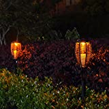 LSHCX Solar Powered Flickering Led Torches Path Light, 1 Pack