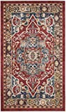 Cheap Safavieh Bijar Collection BIJ605R Traditional Oriental Vintage Red and Royal Blue Area Rug (4′ x 6′)