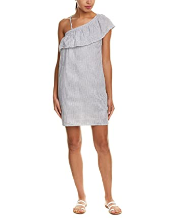 453d2b1eae Image Unavailable. Image not available for. Color  Beachlunchlounge Womens  Linen-Blend Shift Dress ...