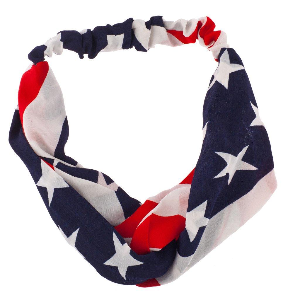 ラックスアクセサリーAmerican Flag Stars & Stripes選挙Patrioticストレッチヘッドバンド B00VXSAJG8
