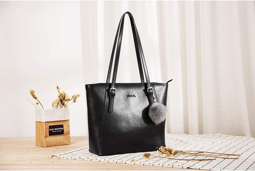 BOSTANTEN Donna Borse a mano per lavoro//scuola//viaggio Vera Pelle shopper Stile semplicemente elegante Borse a tracolla Marrone