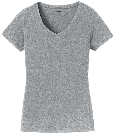 c2222744662 Ladies 4.5oz Soft Cotton Lightweight V-Neck T-Shirts in Sizes XS-4XL ...