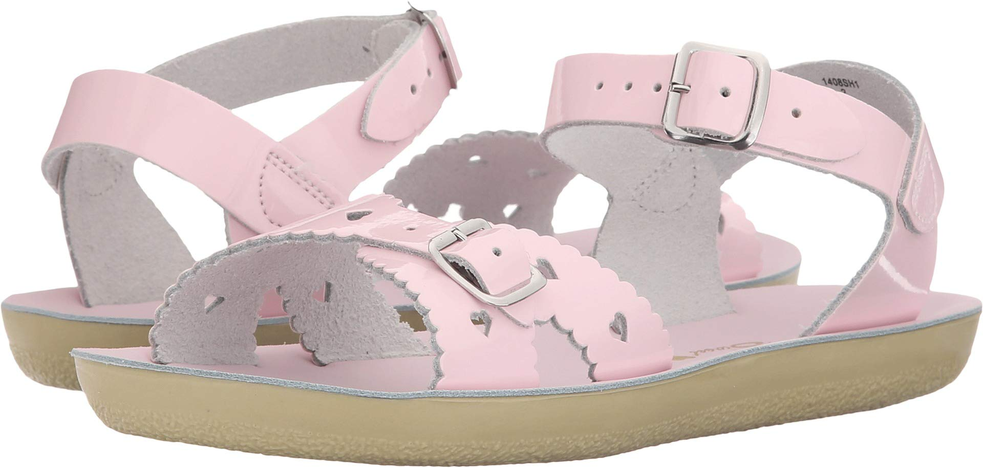 Salt Water Sandals by Hoy Shoe Girls' Sun-San Sweetheart Flat Sandal Shiny Pink 8 M US Toddler