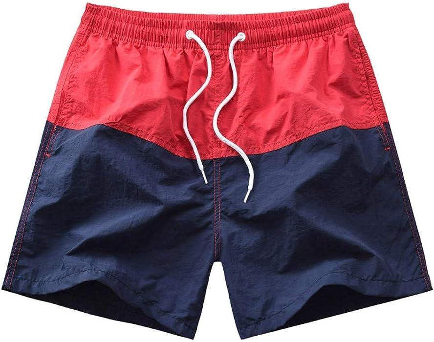 74563b2a22 Amazon.com: Men Beach Shorts, Male Casual Printed Loose Sport Trunks  Hawaiian Quick Dry Surfing Running Swimming Boardshorts: Electronics