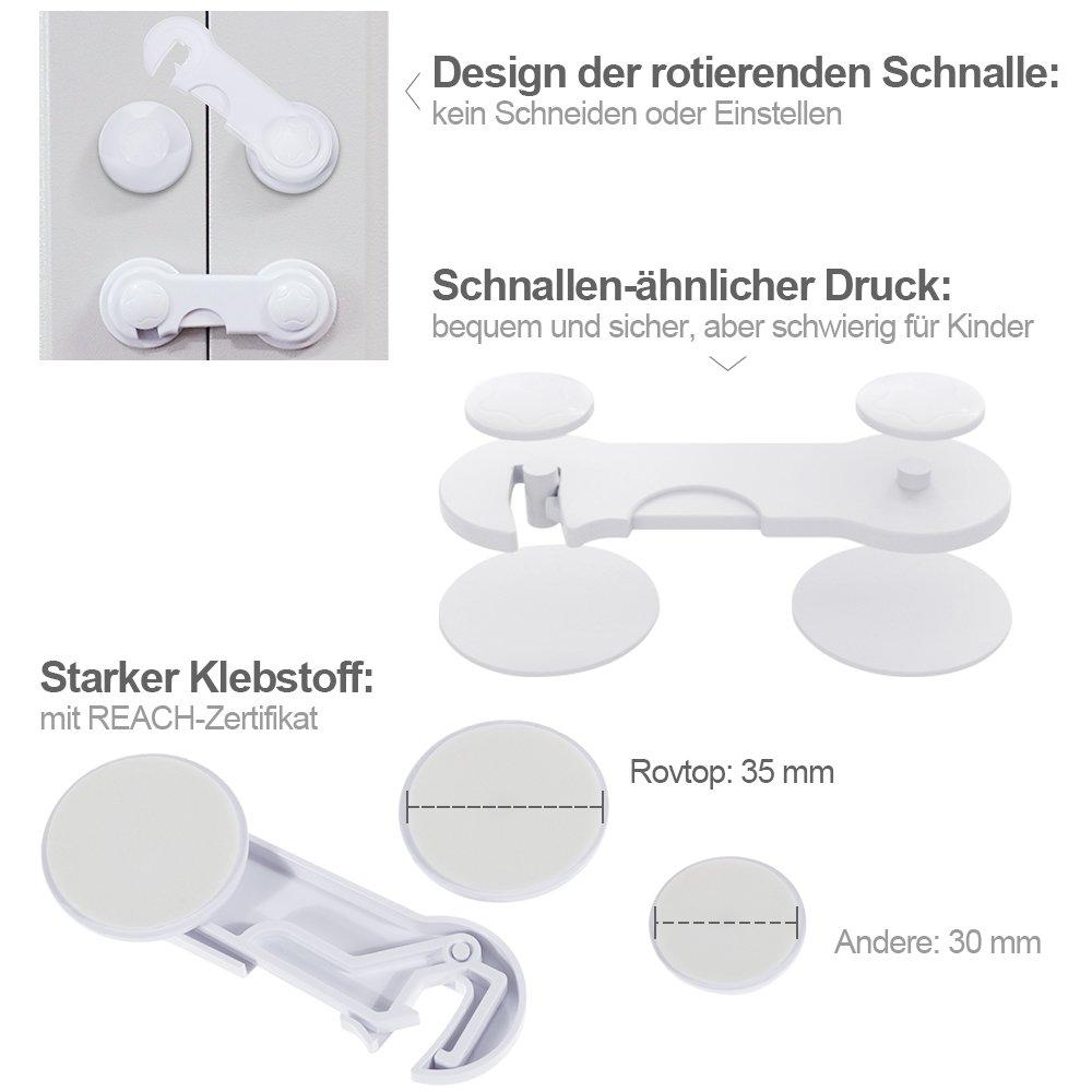 Kindersicherung Schranksicherung Weichem Band Schubladensicherung T/ürsicherung Mehrzweck-Klebeband f/ür K/ühlschrank Schubladen Geschirrsp/üler