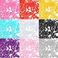 LuckyFine 1000x 4.5mm Acrylic Crystal Diamond Confetti Table Scatters Clear Fillers Vase Colorful Wedding Decorations