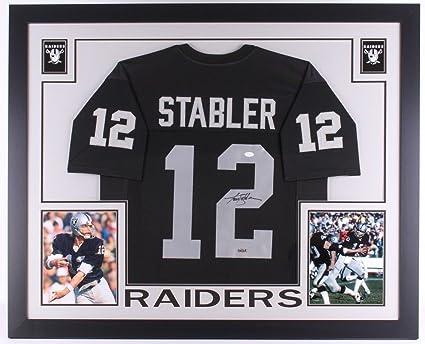 premium selection b847e 58dbd Ken Stabler Autographed Signed Raiders 35X43 Custom Framed ...