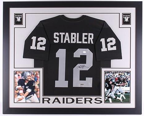 ac2d382770f Ken Stabler Autographed Signed Raiders 35x43 Deluxe Framed Jersey - JSA  Certified