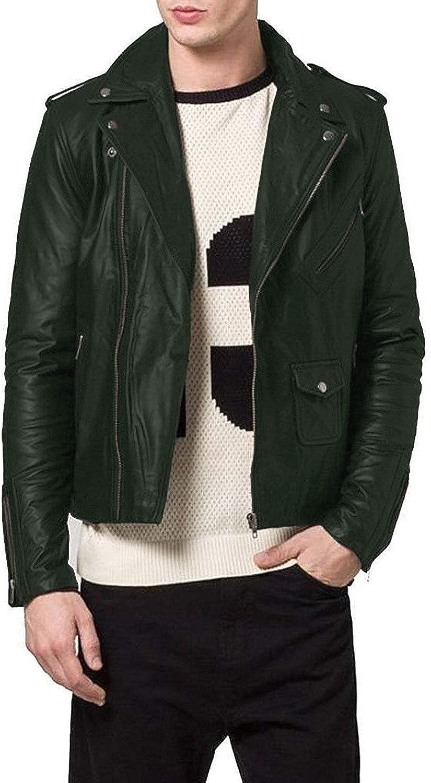 Lasumisura Mens Black Genuine Lambskin Leather Jacket 1510188