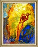 "Angelica on the Rock by Odilon Redon - 15"" x 19"" Framed Premium Canvas Print"