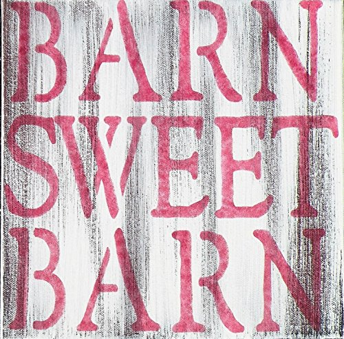 Distressed Barn Sweet Barn Rustic Canvas Painting, Country Quote Sign, Farmhouse Decor,