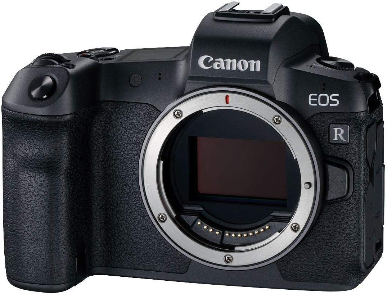 Canon EOS R Vollformat Systemkamera + Bajonettadapter EF- EOS R (30,3 MP, 8,01 cm (3,2 Zoll) Clear View LCD II Display, DIGIC 8, 4K Video, WLAN, Bluetooth) mit Gehäuse