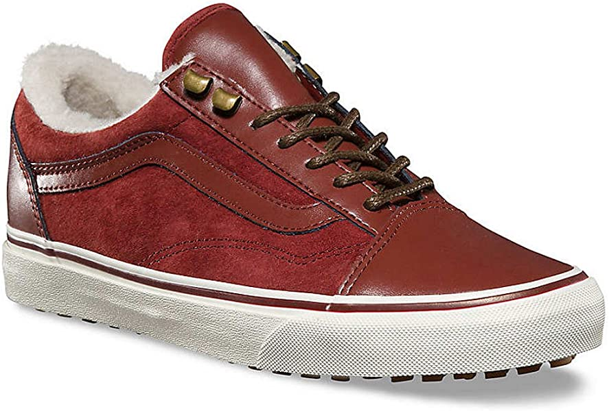 54e2d9c269d Vans Old Skol MTE Womens Leather Matt Burgundy Trainer (7.5 US