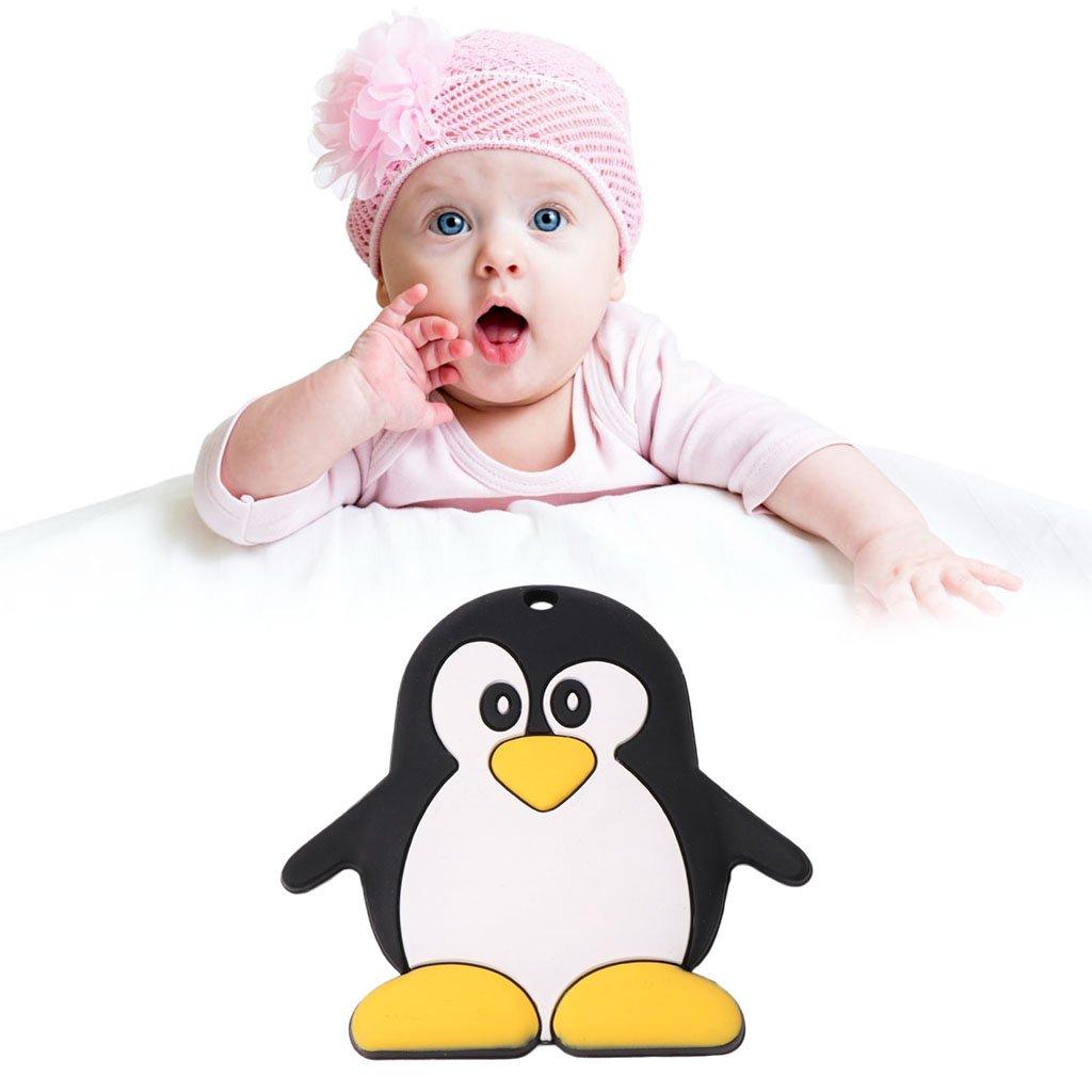 Manyo Baby Bei/ßring Silikon Nette Pinguin Form Kinderkrankheiten Neugeborenen Pflege Pflege Kauen Spielzeug