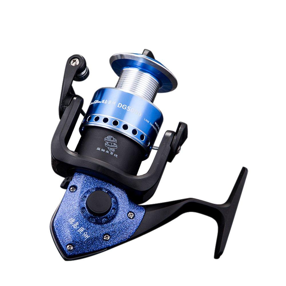 rgtoponeメタルPerfect Spinning釣りリール折りたたみ可能な15 + 1ダブルベアリングProfessional電源腐食抵抗リール左/右交換可能、High Endデザイン DG4000 ブルー B01M1JMX3V