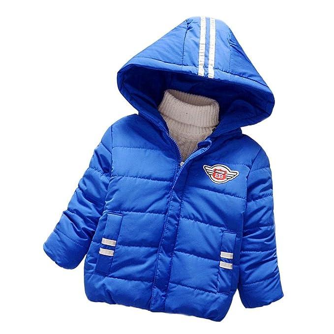 Bebé niñas niños encapuchado abrigo, Yannerr chico otoño invierno chaqueta con capucha capa gruesa caliente