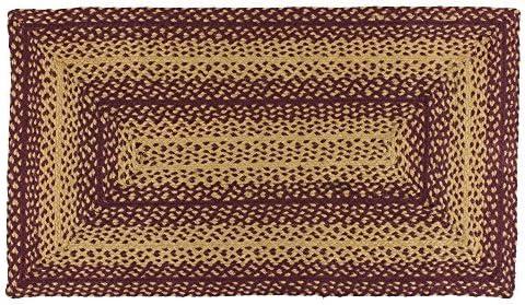 IHF Home Decor Vintage Star Rectangle Jute Braided Area Rug Floor Carpet 8 x 10 Feet