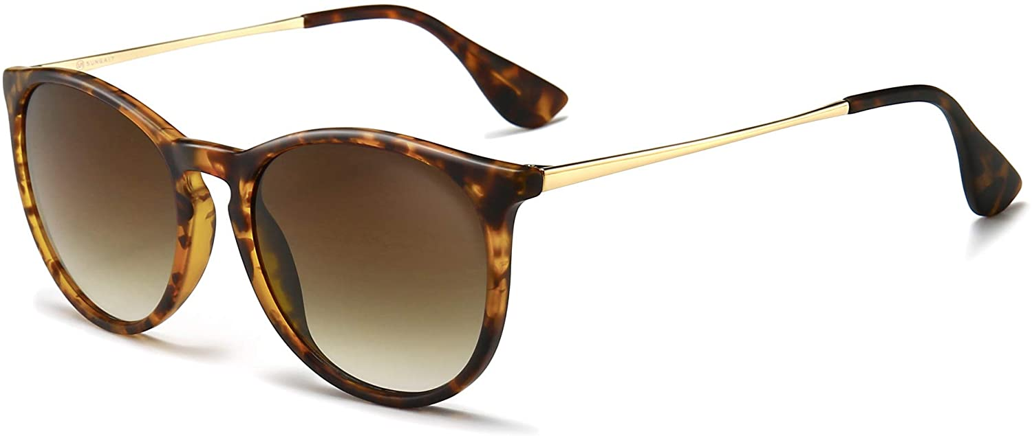 SUNGAIT Vintage Round Sunglasses for Women Men Classic Retro Designer Style