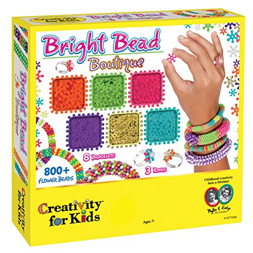 Creativity for Kids Bright Bead Boutique Kit - 800+ Flower Beads ()