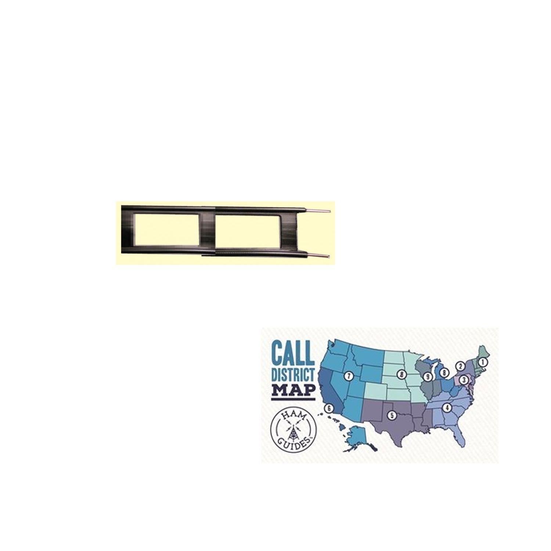 MFJ 50ft 450 Ohm Ladder line, 2-18 and Ham Guides TM Pocket Reference Card Bundle