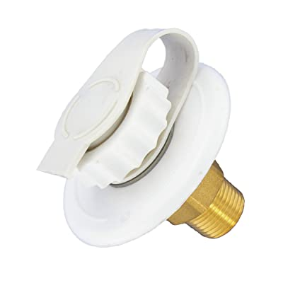 "Valterra A01-0170LF White 2-3/4"" MPT Lead-Free Flush Mount Water Inlet: Automotive"