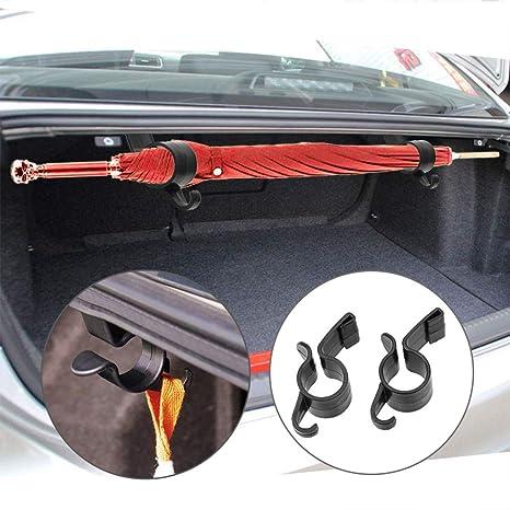 CAheadY 2 Pezzi//Set Ombrello Supporto Stamm Organizer Auto Posteriore Supporto di Montaggio Gancio Asciugamano