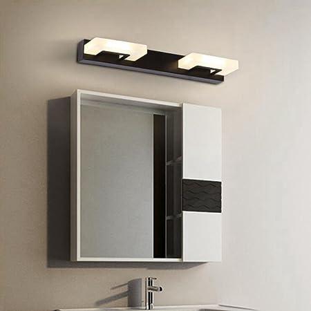 LED Lámpara de espejo BiuTeFang Iluminación LED con vitrinas estanca antiniebla con lámparas de pared para baño con luz de espejo para baño moderna con focos de espejo 35CM 5W: Amazon.es: Hogar