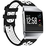 bayite Soft Silicone Sport Bands for Fitbit Ionic Replacement Band Perforated Breathable Accessories Fitness Wristband Fashion Strap For Fitbit Ionic Smart Watch Bands Women Men