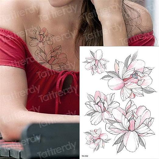 3pcs-Negro de la Flor del Tatuaje Temporal del Tatuaje de Las ...