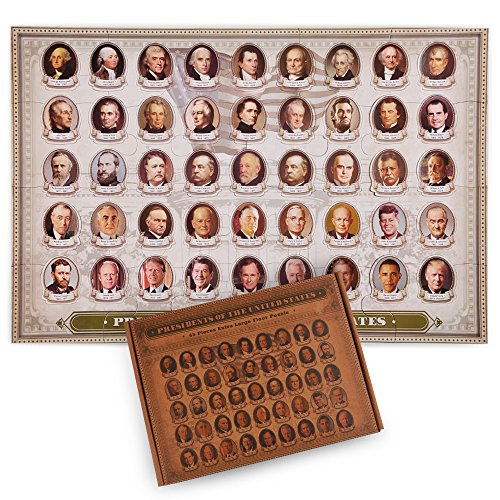 aGreatLife Floor Puzzle US Presidents - Jigsaw Floor Mat Puzzle - Improves Motor Skills and Picture Recognition