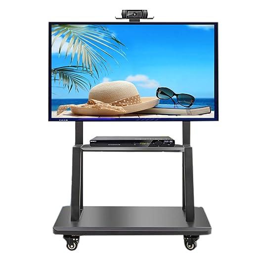ZAQI Soporte TV Trole Rolling TV Cart Soporte de TV móvil para 32 ...