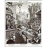 Media Storehouse 10x8 Print of Hogarth, Gin Lane (4307097)