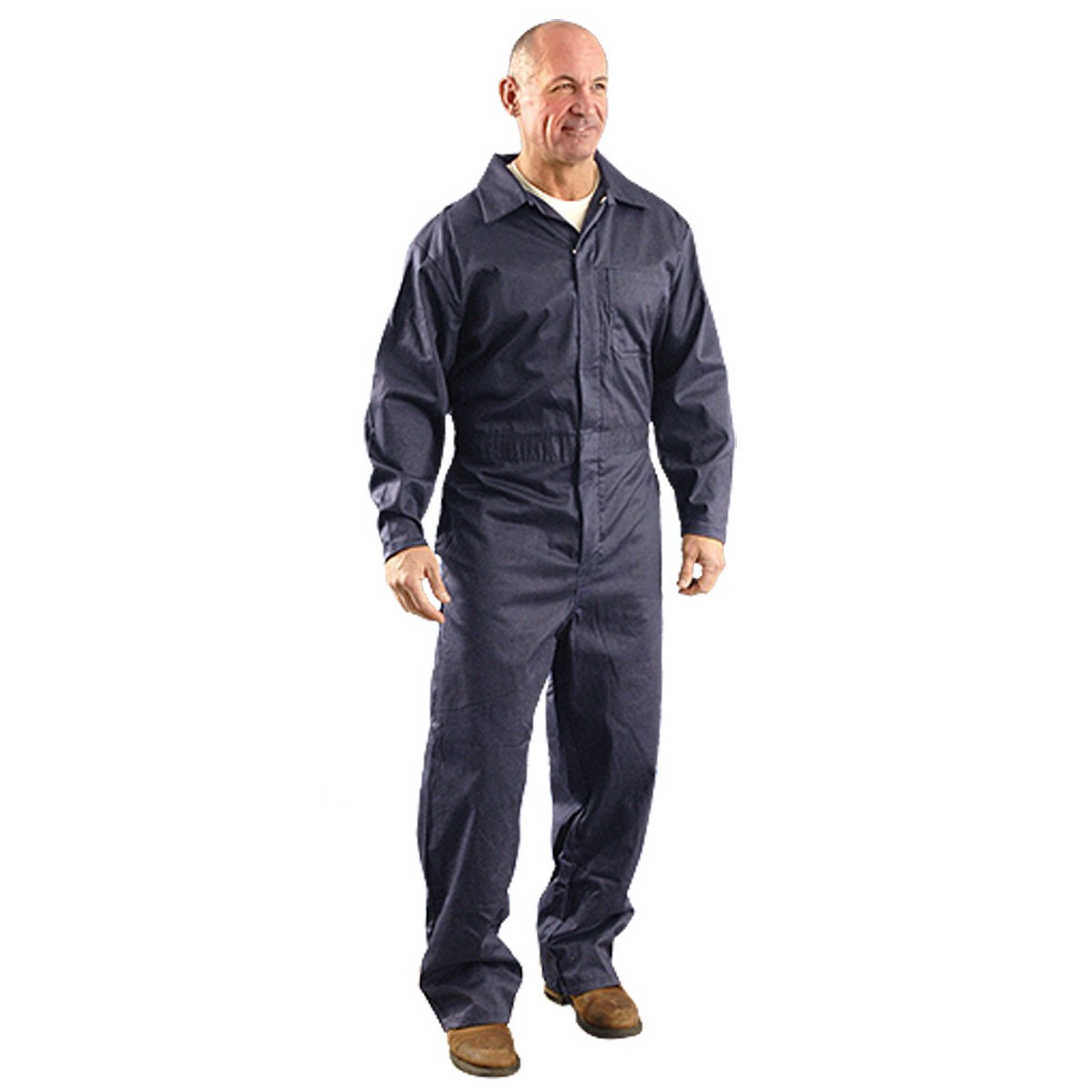 OccuNomix G906NB-3X Premium Nomex Flame Resistant Coverall HRC 1, 6 oz, Navy Blue, 2X-Large
