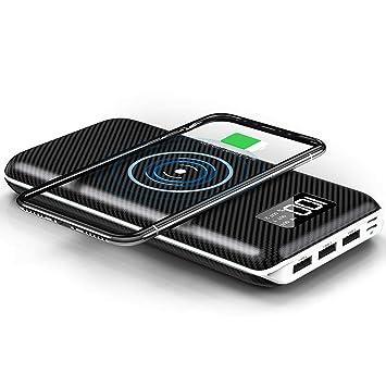b439d8f85 KEDRON Express E1 Cargador Portátil Batería Externa 24000mAh Cargador  Inalámbrico Rápido Power Bank con 3 Puertos y Entrada Doble para Android  Phones, ...