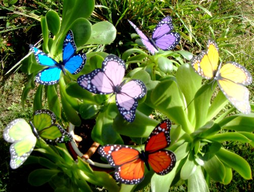 Garden Plant Butterfly (Butterfly Garden Ornaments & Patio Décor Butterfly Party Supplies Butterfly Decorations for Garden & Flo Butterfly Crafts 12 Pcs Set)