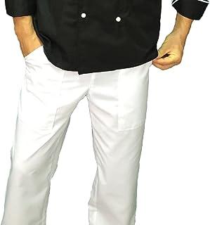 tessile astorino Pantalone Cuoco Chef Basic, Bianco, Made in Italy