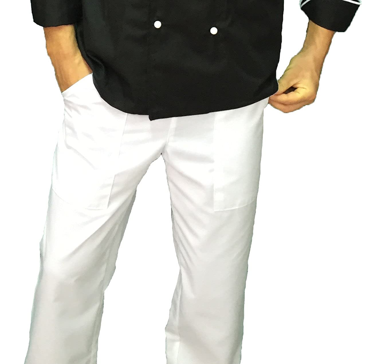 tessile astorino Pantalone Cuoco Chef, Vari Colori, Made in Italy
