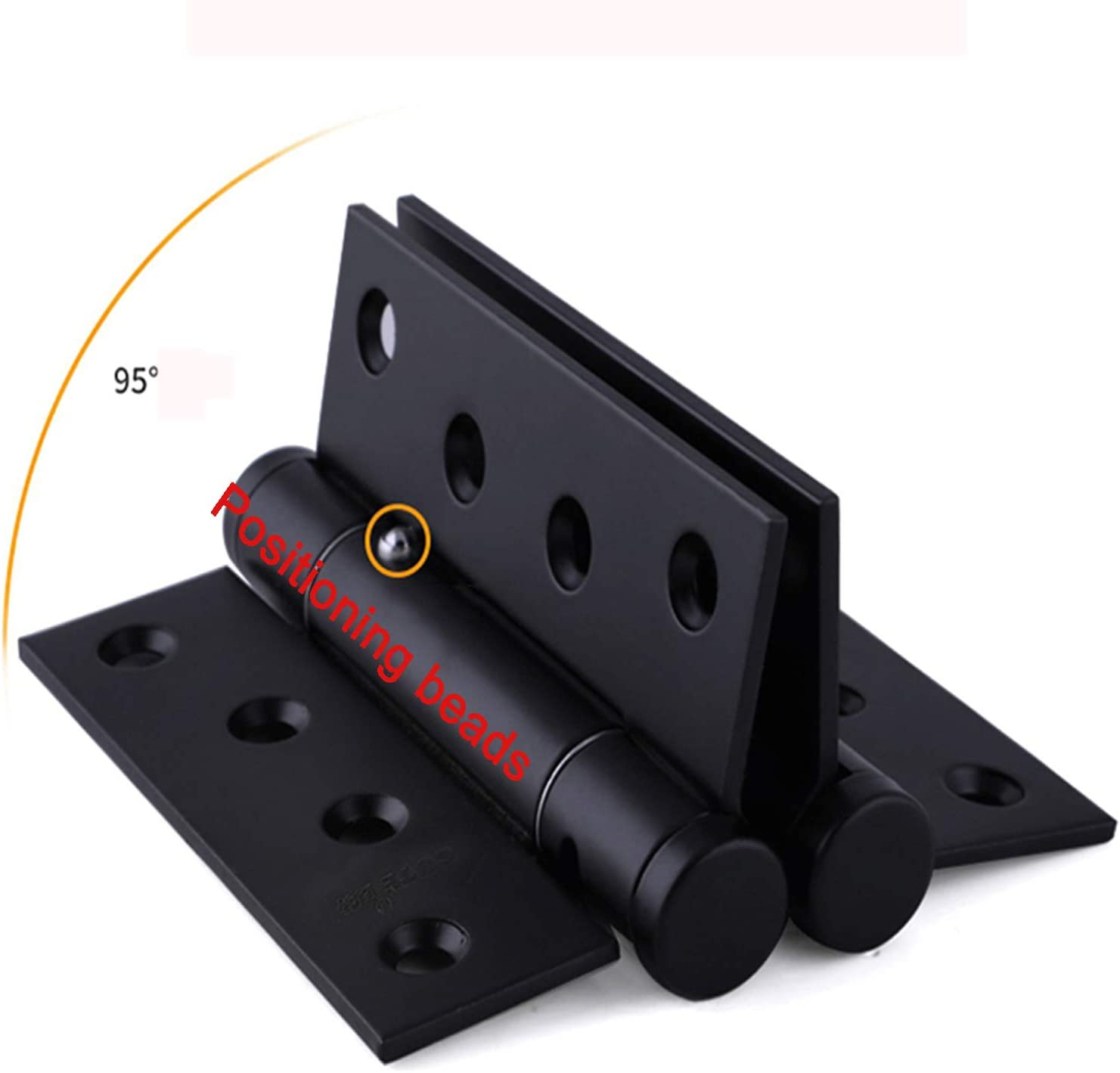,Black 2 PCS SQINAA Stainless Steel Door Hinges with Stainless Steel Screws Butt Heavy Duty Folding Hinge for Furniture Cabinet Gate Closet Door Home Hardware