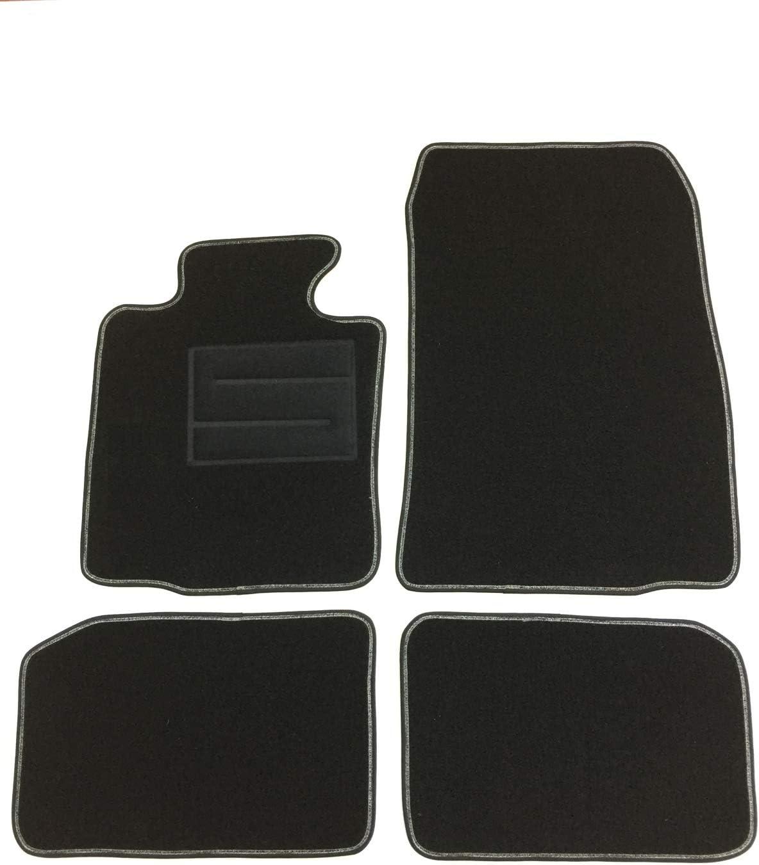ASC Countryman//Paceman Tapis de voiture en moquette noire avec logo